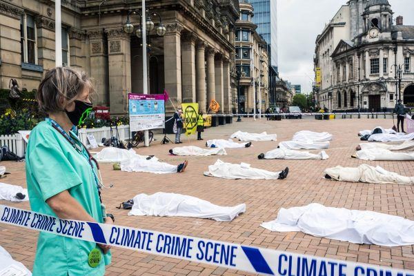 Extinction Rebellion protest outside Birmingham City Council, Birmingham, UK